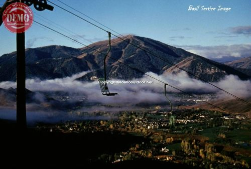 Ruud Mountain Chair Lift and Bald Mountain Sun Valley Idaho