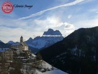 Italian Village Church Dolomites