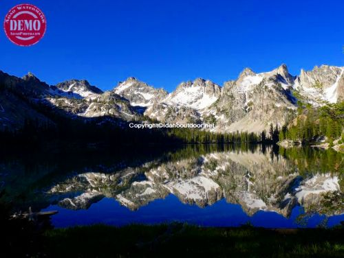 Alice Lake Reflections Sawtooths