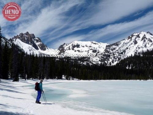 Skier Bench Lakes Sawtooths