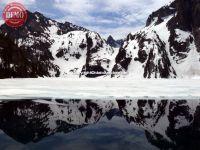 Goat Lake Sawtooths Frozen Waters