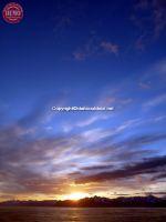 Sunset Midnight Alaska Costal Range