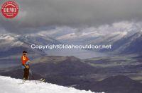 Skier Coronet Peak New Zealand