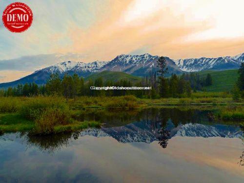 Beaver Pond Boulder Mountain Mirror