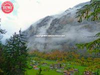 Clouds Cliffs Lauterbrunnen Switzerland