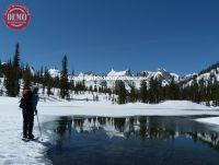 Skier Alice Lake Reflections