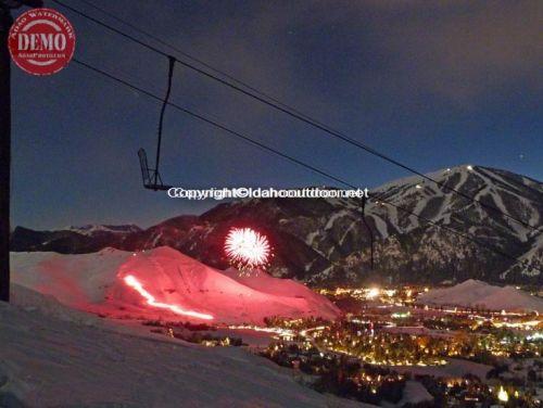 Sun Valley Fireworks Christmas Eve