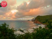 Sunset Hawaii Pololu Valley