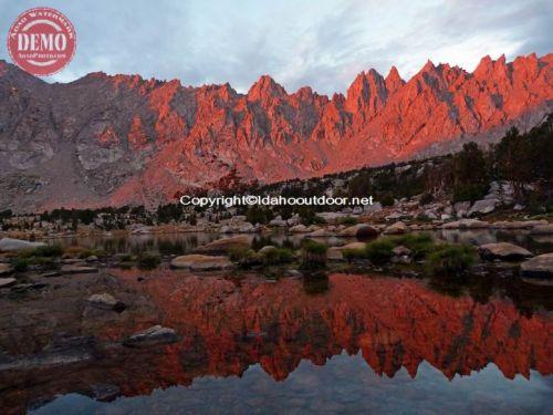Sierras Rae Lakes Reflections Alpine Glow