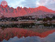 Reflections Sierras Rae Lakes Alpine Glow