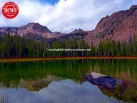 Decker Lake Sawtooth Reflections