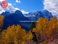 Fishhook Ridge Sawtooths Fall Colors