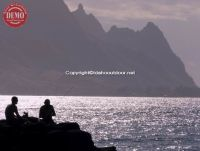 Evening Sunset Na Pali Coast Fishermen