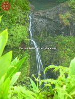 Hawaii Hana Coast Waterfall Maui