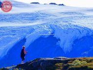 Hiker Exit Glacier Alaska