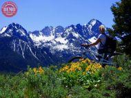 Mountain Biker Fishhook Ridge