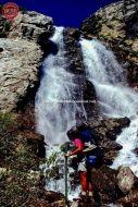 Hiker Smoky Mountain Waterfall