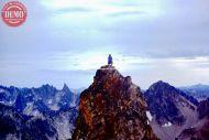 Climber Merrot Peak Sawtooths