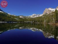 Hell Roaring Lake Sawtooths Mirror