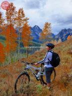 Mountain Biker Fall Fishhook Canyon