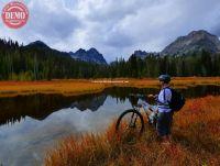 Fall Reflections Mountain Biker Fishhook Canyon