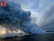 Steam Tornado Lava Ocean Hawaii