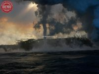 Hawaii Steam Tornado Lava Ocean