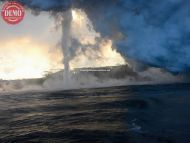 Lava Ocean Hawaii Steam Tornado