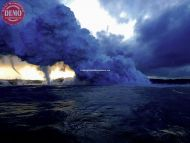 Lava Ocean Hawaii Steam Tornados