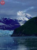 Hubbard Glacier Icy Waters Clouds
