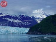 Icy Waters Clouds Hubbard Glacier