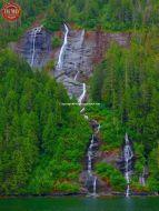 Waterfalls Misty Fiords Ketchikan Alaska