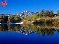 Bald Mountains Reflections Sun Valley Lake