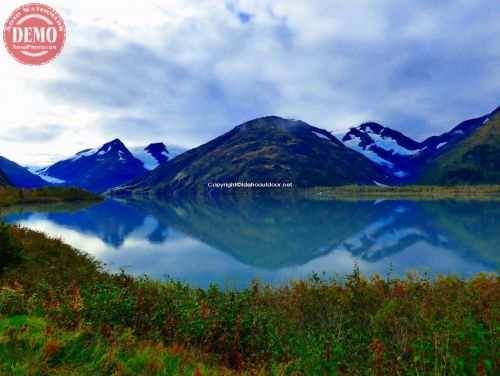 Glacial Reflection Alaska Mountain Lake