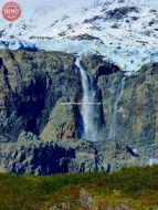 Meares Glacier Waterfall Alaska