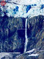 Waterfall Alaska Meares Glacier