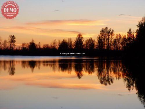 Evening Sunset Alaska Mountain Lake