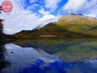 Fall Colors Seward Alaska Lake