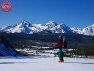 Ski Mountaineer Stanley Creek Ridge