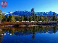 Spring Glass Image Boulder Mountains
