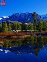 Boulder Mountains Spring Glass Image
