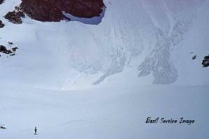 Skier Snowyside Peak