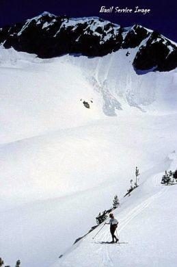 Snowyside Peak Skier