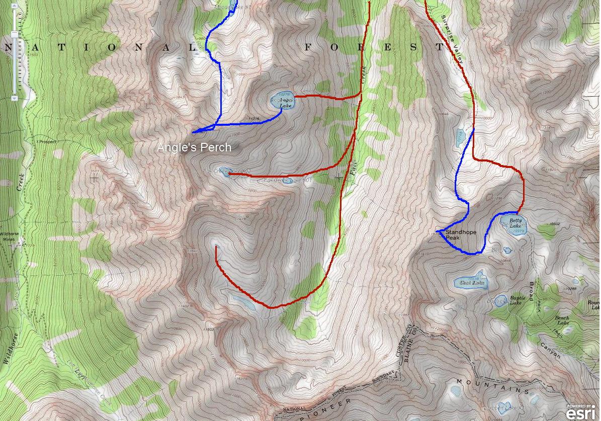 Pioneer Mountains Idaho Map.Sun Valley Idaho Hiking Sun Valley Idaho Climbing Sun Valley Idaho
